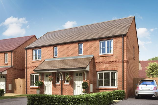 "Thumbnail Semi-detached house for sale in ""The Hanbury"" at Desborough Road, Rothwell, Kettering"