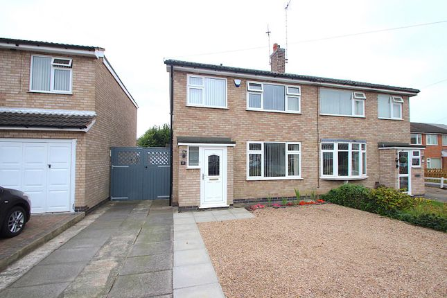 Thumbnail Semi-detached house for sale in Keble Drive, Syston, Leicester