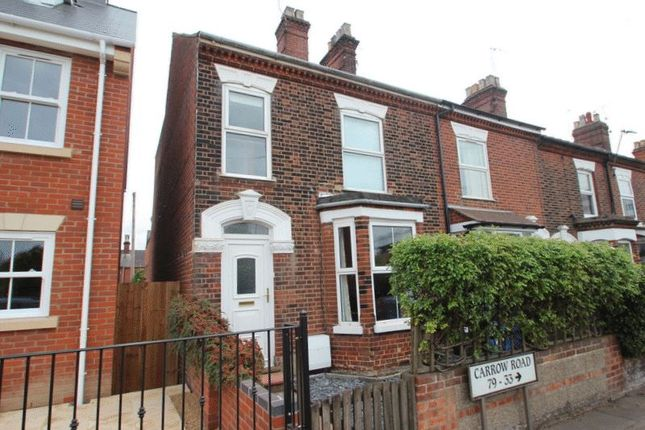 Thumbnail End terrace house for sale in Carrow Road, Norwich