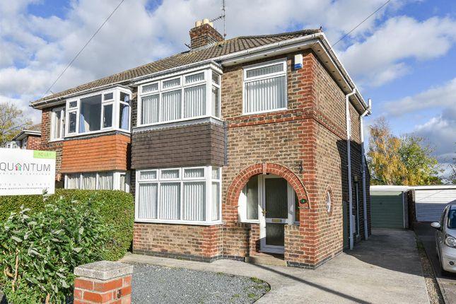 Thumbnail Semi-detached house to rent in Hambleton Avenue, Osbaldwick, York