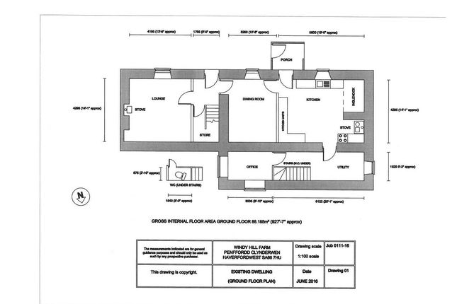 Ground Floorplan of Penffordd, Clynderwen SA66