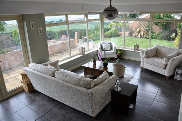 Garden Room of Ovington View, Prudhoe, Northumberland. NE42
