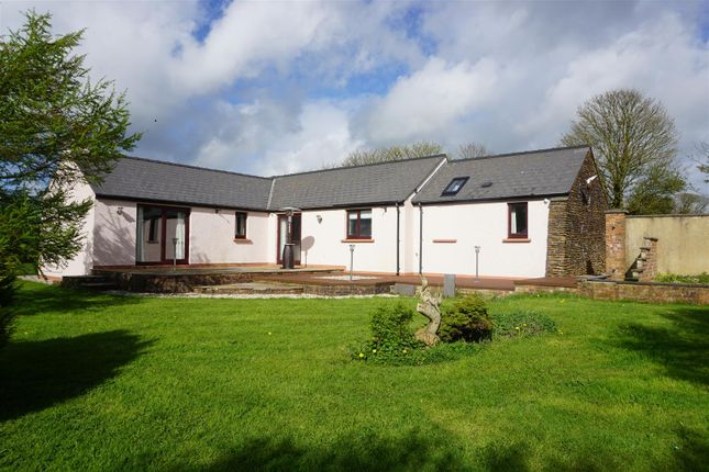 Thumbnail Detached bungalow for sale in Yr Ydlan, St Davids Road, Letterston