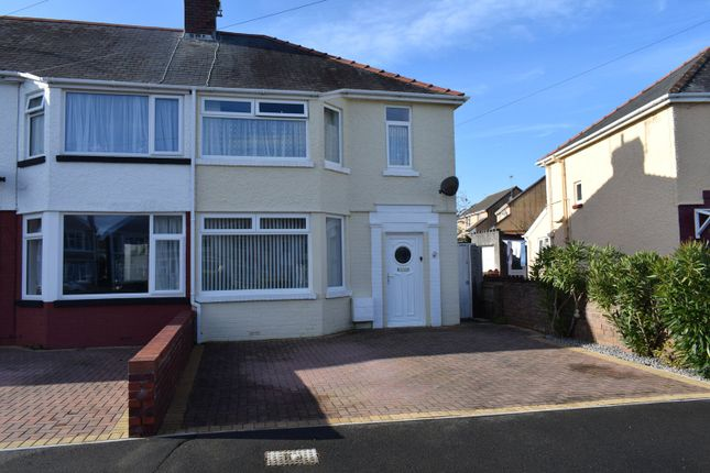 Thumbnail End terrace house for sale in Poplar Crescent, Porthcawl