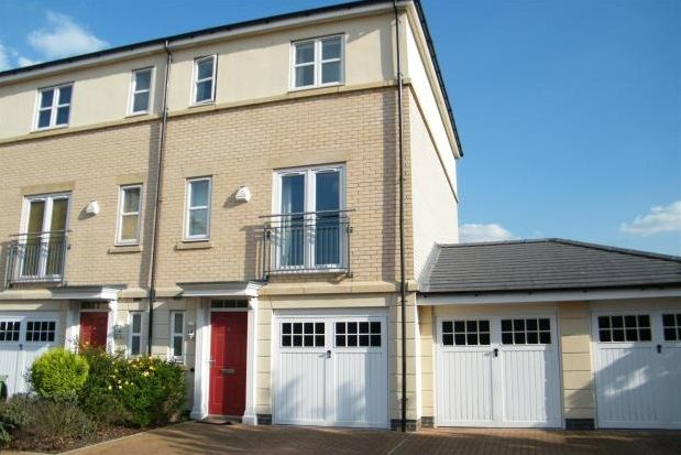 Thumbnail End terrace house to rent in The Quays, Castle Quay Close, Nottingham