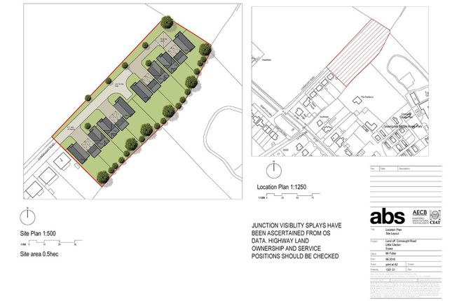Thumbnail Land for sale in Connaught Road, Weeley Heath, Clacton-On-Sea