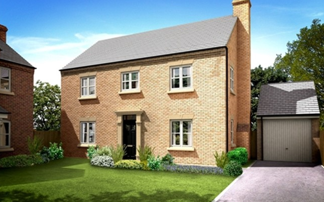 Thumbnail Detached house for sale in The Houghton, William Nadin Road, Swadlincote, Derby