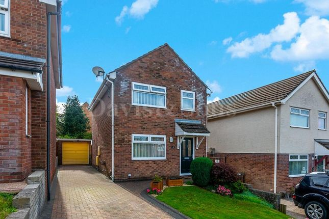Thumbnail Detached house for sale in Pontymason Court, Rogerstone, Newport.