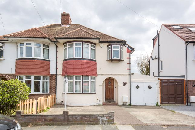 Thumbnail Semi-detached house for sale in Rowantree Road, Winchmore Hill