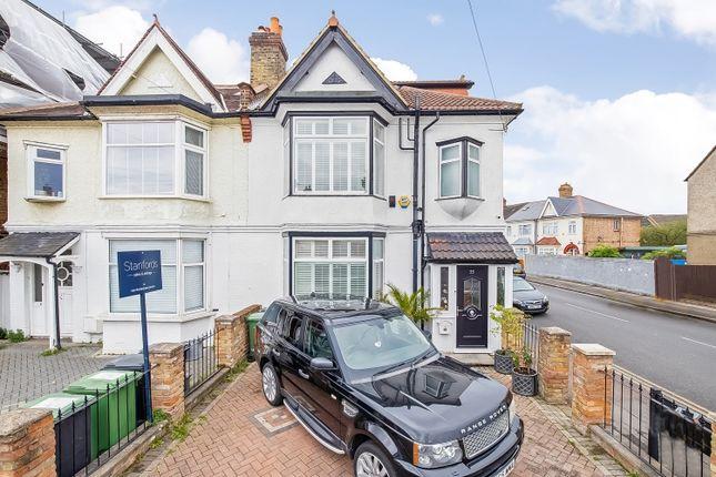 Thumbnail End terrace house for sale in Thornsbeach Road, London