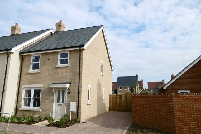 Thumbnail End terrace house to rent in Chamberlain Park, Biggleswade