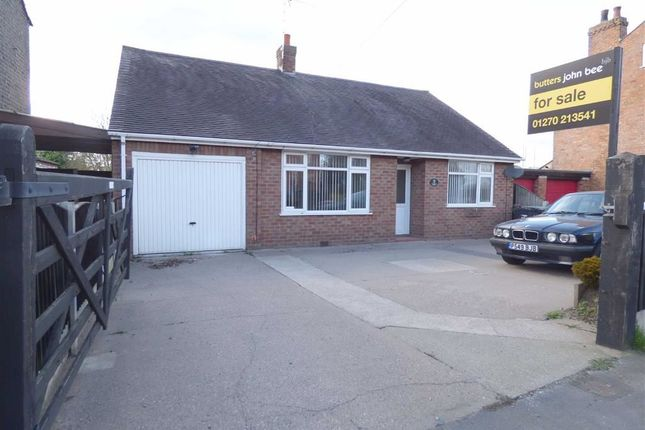 Thumbnail Detached bungalow for sale in Crewe Road, Shavington, Crewe
