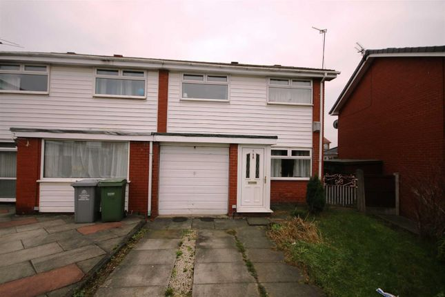 Thumbnail Semi-detached house to rent in Esk Close, Urmston, Manchester