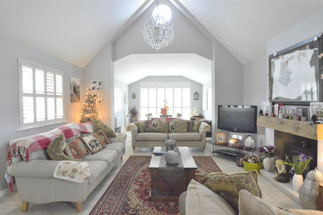 Thumbnail Detached bungalow for sale in Frogmill House, Evesham Road, Teddington, Tewkesbury, Gloucestershire