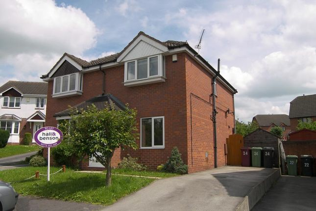 Thumbnail Semi-detached house to rent in The Brockwell, South Normanton, Alfreton