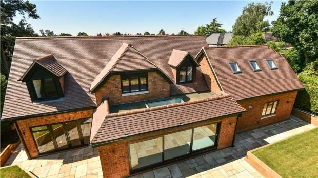 Thumbnail Detached house for sale in Cherry Tree Road, Farnham Royal, Slough