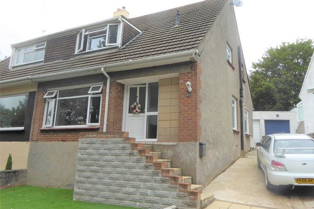 Thumbnail Semi-detached bungalow for sale in Wernddu, Sarn, Bridgend, Bridgend County.