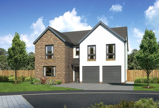 "Thumbnail Detached house for sale in ""Malborough"" at Kingswells, Aberdeen"