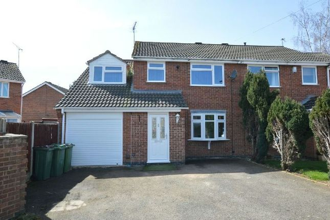 Thumbnail Semi-detached house for sale in Daybell Close, Whetstone, Leicester