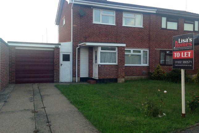 Thumbnail Semi-detached house to rent in Gloucester Avenue, Lowestoft