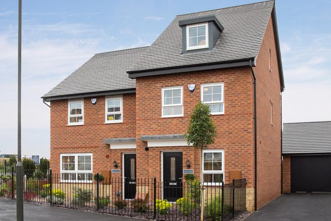 "Thumbnail Terraced house for sale in ""Woodcote"" at Station Road, Methley, Leeds"