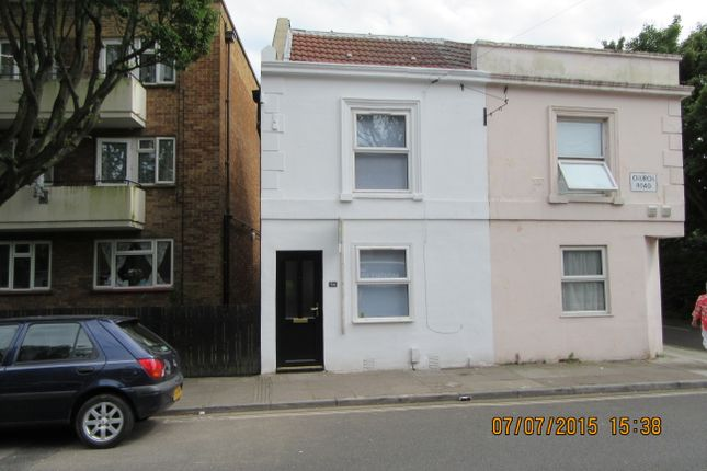 Thumbnail End terrace house to rent in Church Road, Portsmouth