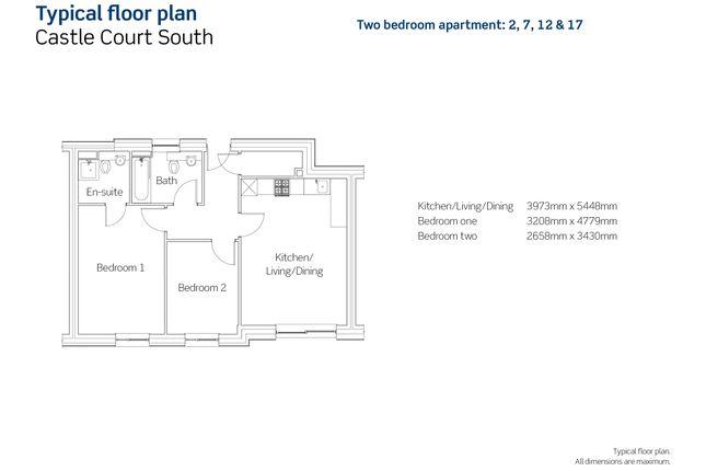 2 bedroom flat for sale in New Hawkins Street, Bristol