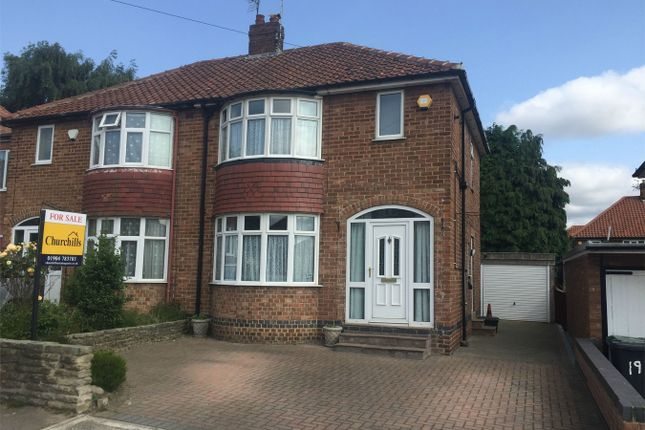 Thumbnail Semi-detached house for sale in Almsford Drive, Acomb, York