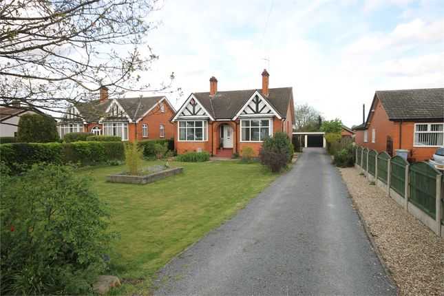 Thumbnail Detached bungalow for sale in Fosse Road, Farndon, Newark, Nottinghamshire.