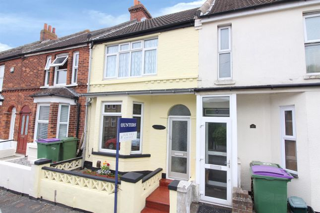 Thumbnail Terraced house for sale in Broomfield Road, Cheriton, Folkestone
