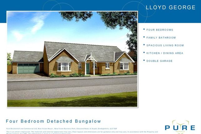 Thumbnail Bungalow for sale in New Vision Business, Glascoed Road, St. Asaph