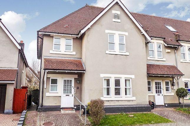 3 bed end terrace house for sale in Preswylfa Court, Merthyr Mawr Road, Bridgend.
