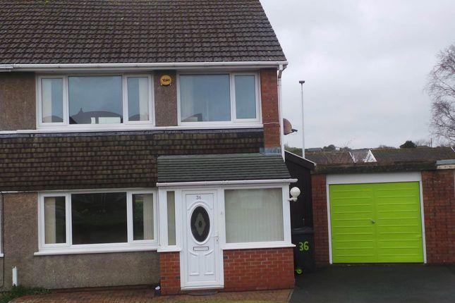 Thumbnail Semi-detached house to rent in 36 Erw Goch, Waunfawr, Aberystwyth