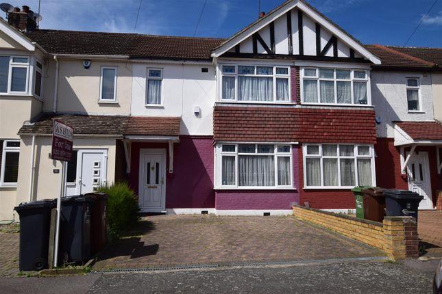Thumbnail Terraced house to rent in Geneva Gardens, Chadwell Heath, Romford