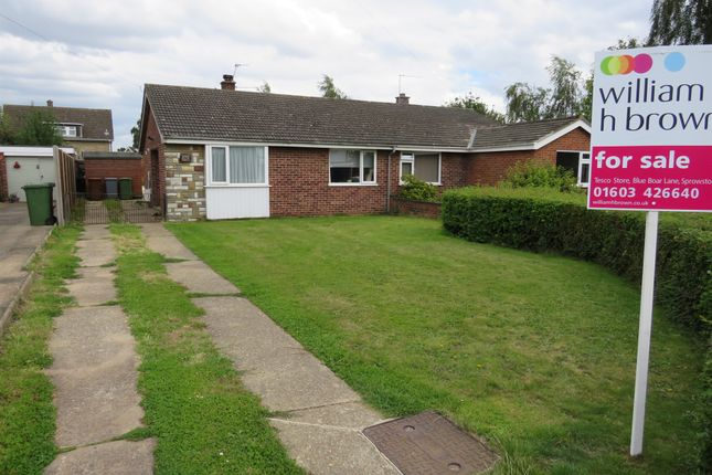 Thumbnail Semi-detached bungalow for sale in Impala Close, Sprowston, Norwich