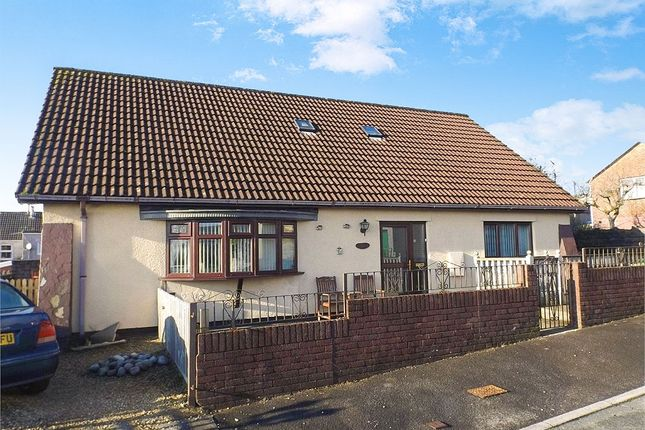 Thumbnail Detached bungalow for sale in The Heathlands, Gilfach Goch, Porth, Mid Glamorgan