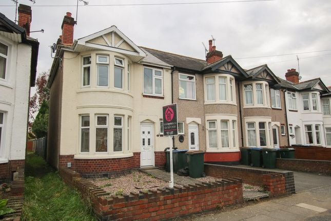 Thumbnail End terrace house to rent in Denbigh Road, Coventry