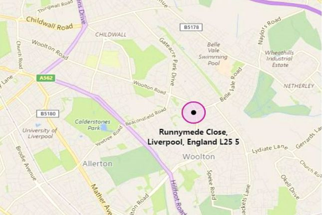 Location Map of Mont Blanc, 4 Runnymede Close, Woolton, Liverpool L25