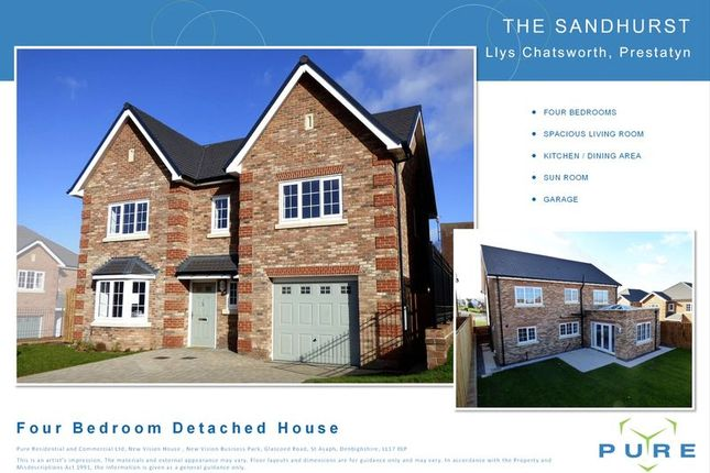 Thumbnail Detached house for sale in The Avenue, Prestatyn