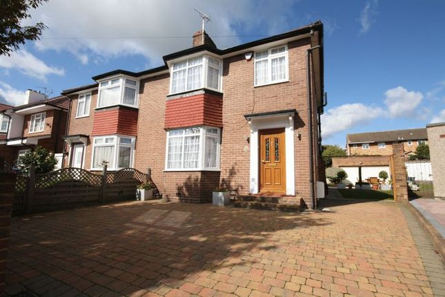 Thumbnail Semi-detached house for sale in Rectory Gardens, Northolt