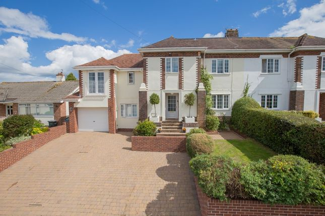 Thumbnail Semi-detached house for sale in Roundhill Road, Torquay