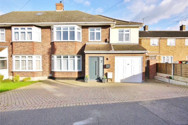 Thumbnail Semi-detached house for sale in Chelmer Drive, Hutton, Brentwood, Essex