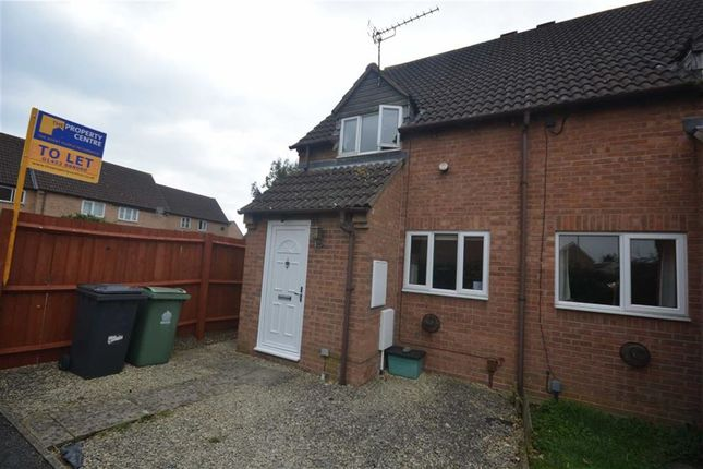 Thumbnail End terrace house to rent in Deerhurst Place, Quedgeley, Gloucester