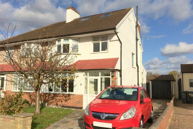 Thumbnail End terrace house for sale in Rhodrons Avenue, Chessington
