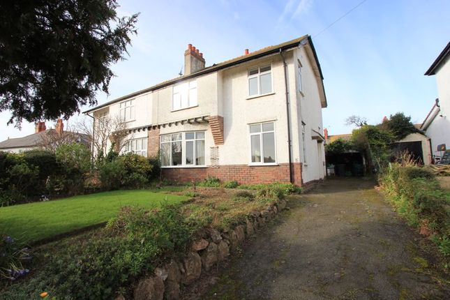 Thumbnail Semi-detached house for sale in Pendorlan Road, Penrhyn Bay, Llandudno