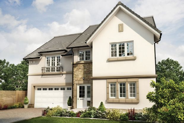 "Thumbnail Detached house for sale in ""The Garvie"" at Wilkieston Road, Ratho, Newbridge"