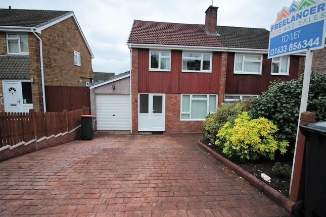 Thumbnail Semi-detached house to rent in Larch Grove, Malpas, Newport
