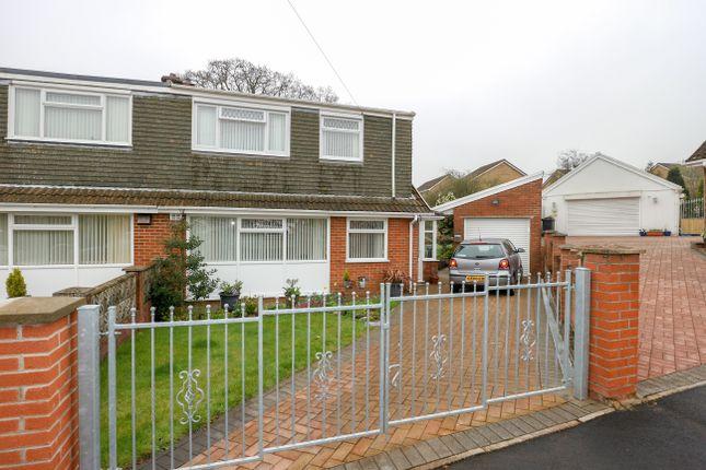 Thumbnail Semi-detached house for sale in Salisbury Close, Heolgerrig, Merthyr Tydfil