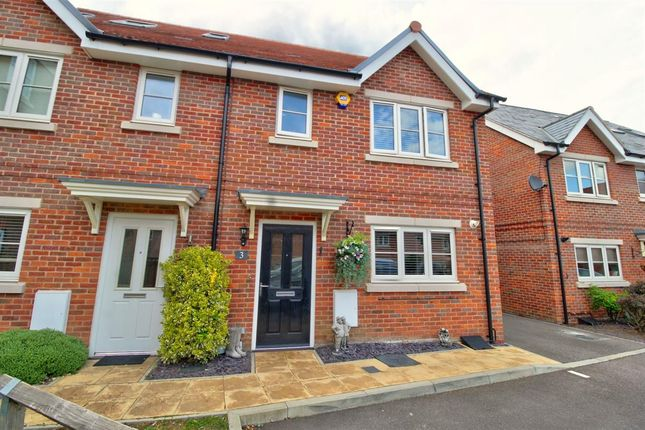 Thumbnail Semi-detached house for sale in Hodgson Way, Gilston, Harlow