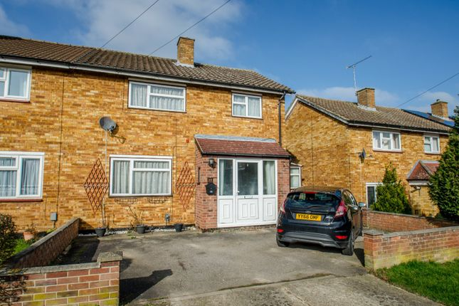 Thumbnail End terrace house for sale in Baddeley Close, Stevenage, Hertfordshire